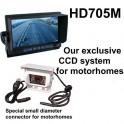 High resolution CCD reversing camera system for motorhomes