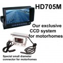 High resolution CCD reversing camera system for motorhomes