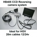 12/24 volt colour TFT monitor and CCD bracket reversing camera kit