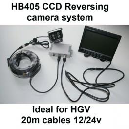 12/24 volt colour TFT monitor and CCD bracket reversing camera kit