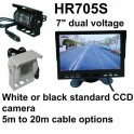 7 inch high resolution colour rear view monitor and standard CCD reversing camera