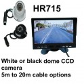 7 inch high resolution colour monitor and CCD Dome reversing camera