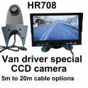 7 inch high resolution colour rear view monitor and VANCAM CCD reversing camera